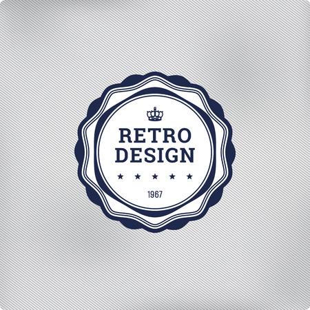 Retro logo template elements. Vector vintage label. Vectores