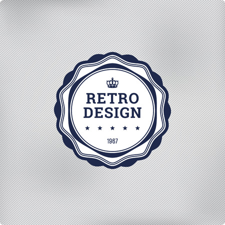 Retro logo template elements. Vector vintage label. Ilustração