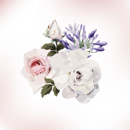 Bouquet of roses, watercolor style Stock fotó - 95846280