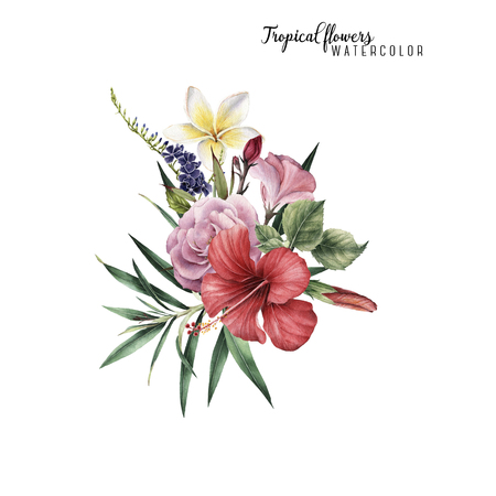 Bouquet of peonies, watercolor, can be used as greeting card, invitation card for wedding, birthday and other holiday and  summer background. Stock Photo