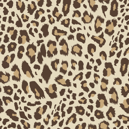 Leopard pattern, seamless background Vector illustration. Vectores