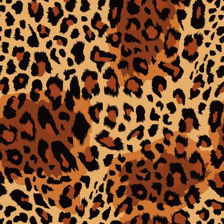 Leopard pattern Vector illustration.
