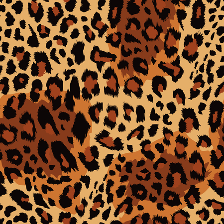 Leopard pattern Vector illustration.