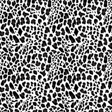 Leopard pattern, seamless background Vector illustration. Vettoriali