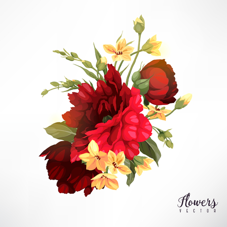 Bouquet of roses. Vector Illustration. Illustration