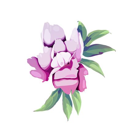 Bouquet of peonies, watercolor, can be used as greeting card, invitation card for wedding, birthday and other holiday and  summer background. Vector illustration.