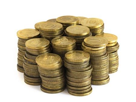 cashing: money, white background