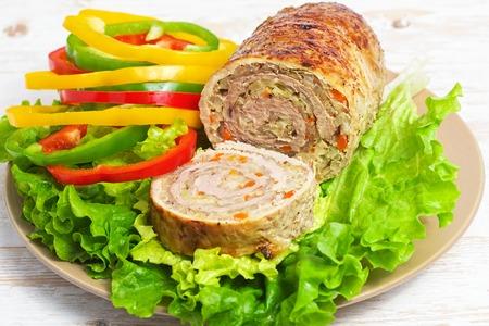 meatloaf: Meatloaf with vegetables