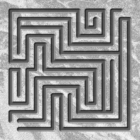Maze 3d illustration. Labyrinth game for kids Stock Photo