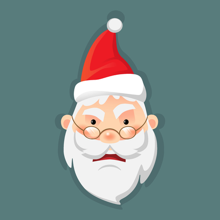 Santa Claus flat vector illustration Illustration