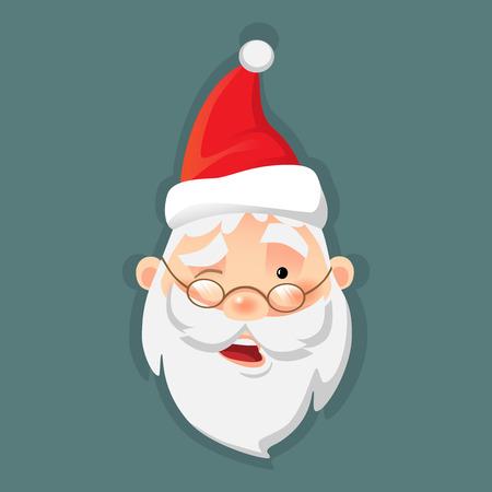 Weihnachtsmann-Symbol . Weihnachtsmann flache Vektor-Illustration