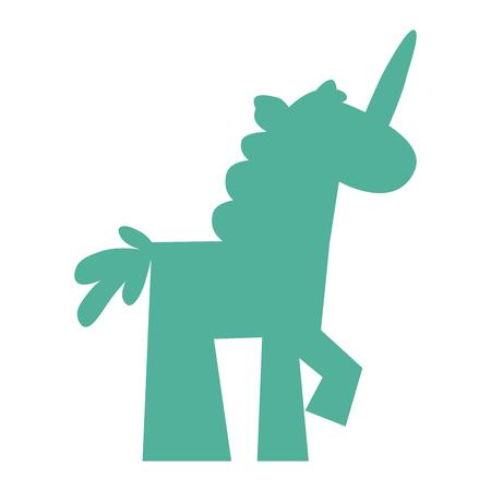 Unicorn silhouette icon. Wild animals silhouette vector.