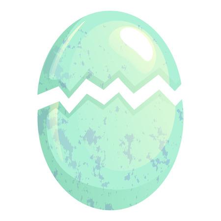 A cracked bird egg isolated on plain background.