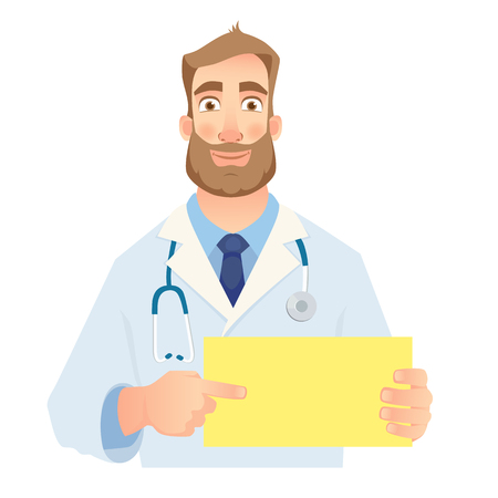 Doctor holding blank sign