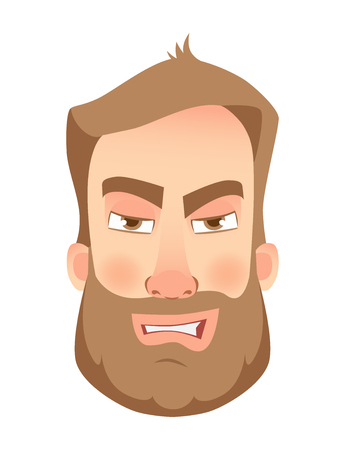 An angry man with beard icon.