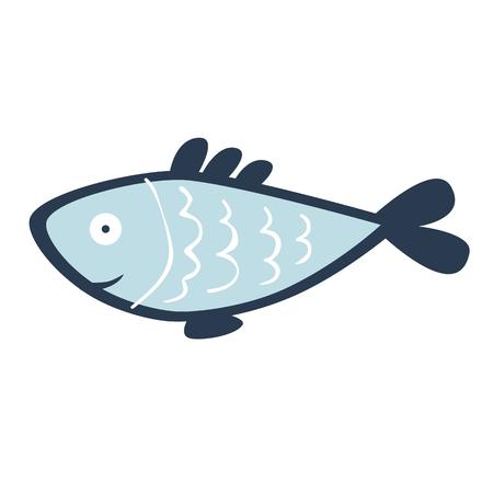 Fish on white background illustration 向量圖像