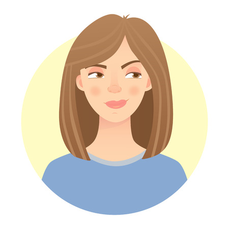 Distrustful face emotion of a woman