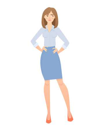 business woman isolated  イラスト・ベクター素材