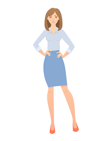 business woman isolated Иллюстрация