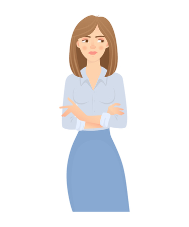 business woman isolated Stock Illustratie
