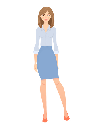 business woman isolated Stock Photo