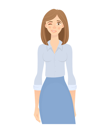 business woman isolated Ilustrace