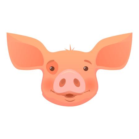 Cute pig cartoon. Pig head isolated. Standard-Bild - 102877421