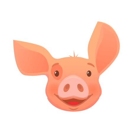 Cute pig cartoon. Pig head isolated. Standard-Bild - 102877425