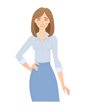 Business woman isolated. Business pose and gesture. Иллюстрация