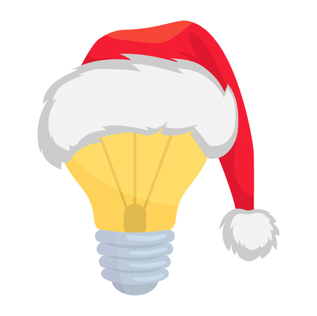 Christmas idea. Christmas electric lamp vector illustration