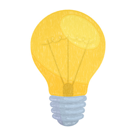 Electric lamp. Energy and idea symbol illustration