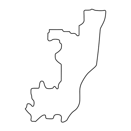 map of Congo -outline. Silhouette of Congo map vector illustration Standard-Bild - 126664927