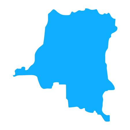 map of Democratic Republic of the Congo. Silhouette of Democratic Republic of the Congo map  illustration Standard-Bild - 115700803