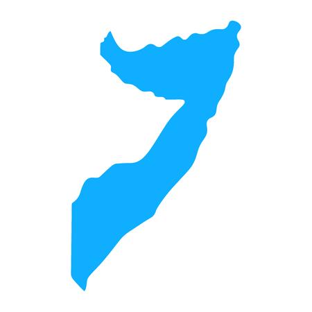 map of Somalia. Silhouette of Somalia map  illustration
