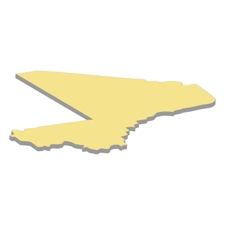 3d map of Mali. Silhouette of map of Mali vector illustration