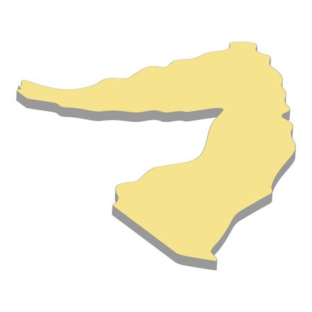 3d map of Somalia. Silhouette of Somalia map vector illustration