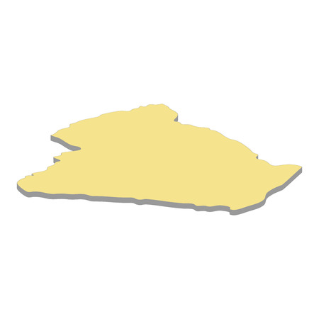 3d map of Algeria. Silhouette of map of Algeria vector illustration