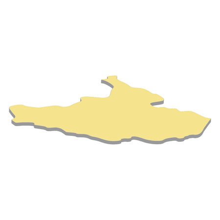 3d map of South Sudan. Silhouette of South Sudan map vector illustration