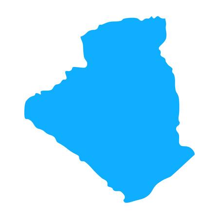 map of Algeria. Silhouette of map of Algeria  illustration Stock Photo