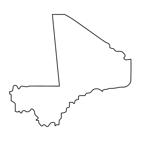 map of Mali - outline. Silhouette of map of Mali  illustration Stock Photo