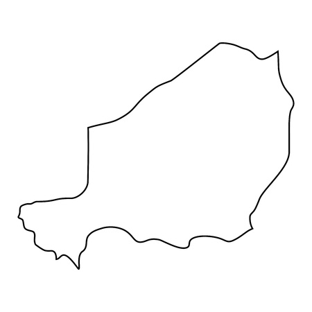 map of Niger - outline. Silhouette of map of Niger illustration Stock Photo