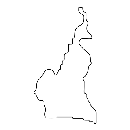 map of Cameroon - outline. Silhouette of Cameroon map  illustration Stockfoto