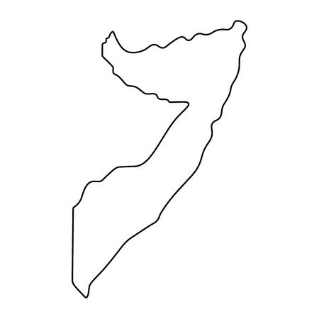 map of Somalia -outline. Silhouette of Somalia map  illustration