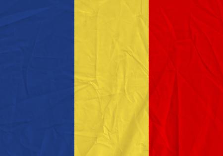 Chad grunge flag. Patriotic background. National flag of Chad Фото со стока
