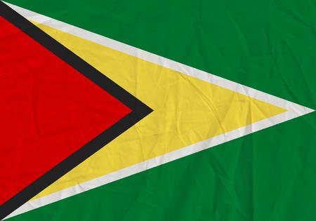 Guyana grunge flag. Patriotic background. National flag of Guyana Stock Photo