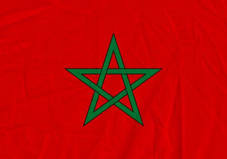 Morocco grunge flag. Patriotic background. National flag of Morocco