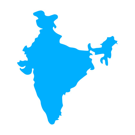 Map of India - outline. Silhouette of India map vector illustration