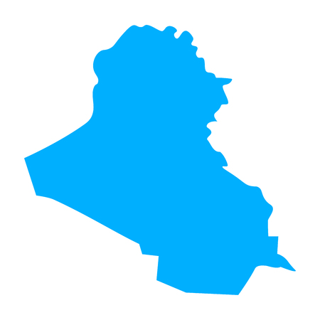 Map of Iraq - outline. Silhouette of Iraq map vector illustration