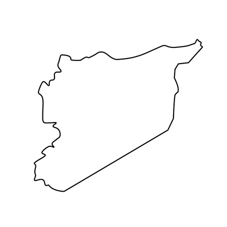 Map of Syria - outline. Silhouette of Syria map vector illustration