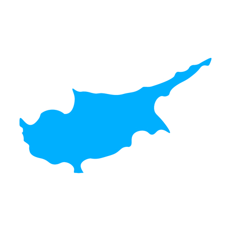 Map of Cyprus - outline. Silhouette of Cyprus map vector illustration Ilustração